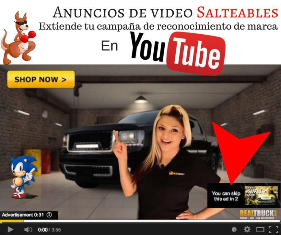 anuncios de video en Youtube