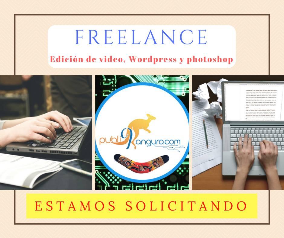 Se solicita para Freelance de Publicidad digital